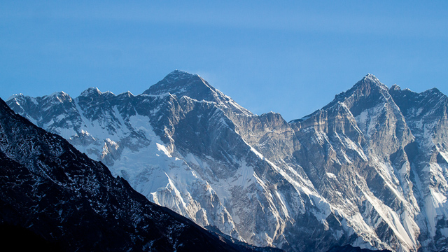 The colossal Everest and Lhotse