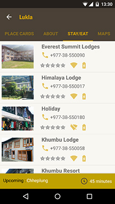 HoneyGuide App Complete Lodge Listing Everest Trek