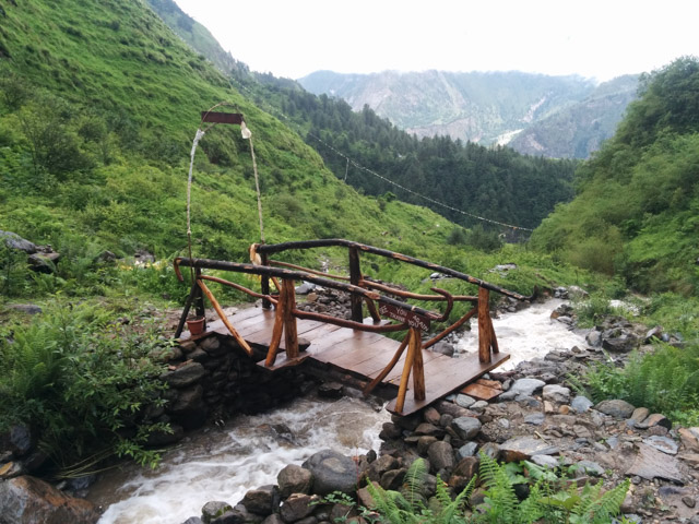 This bridge is one of the few works that the Sikkim Lama has done to make Gurusampo Cave more accessible.