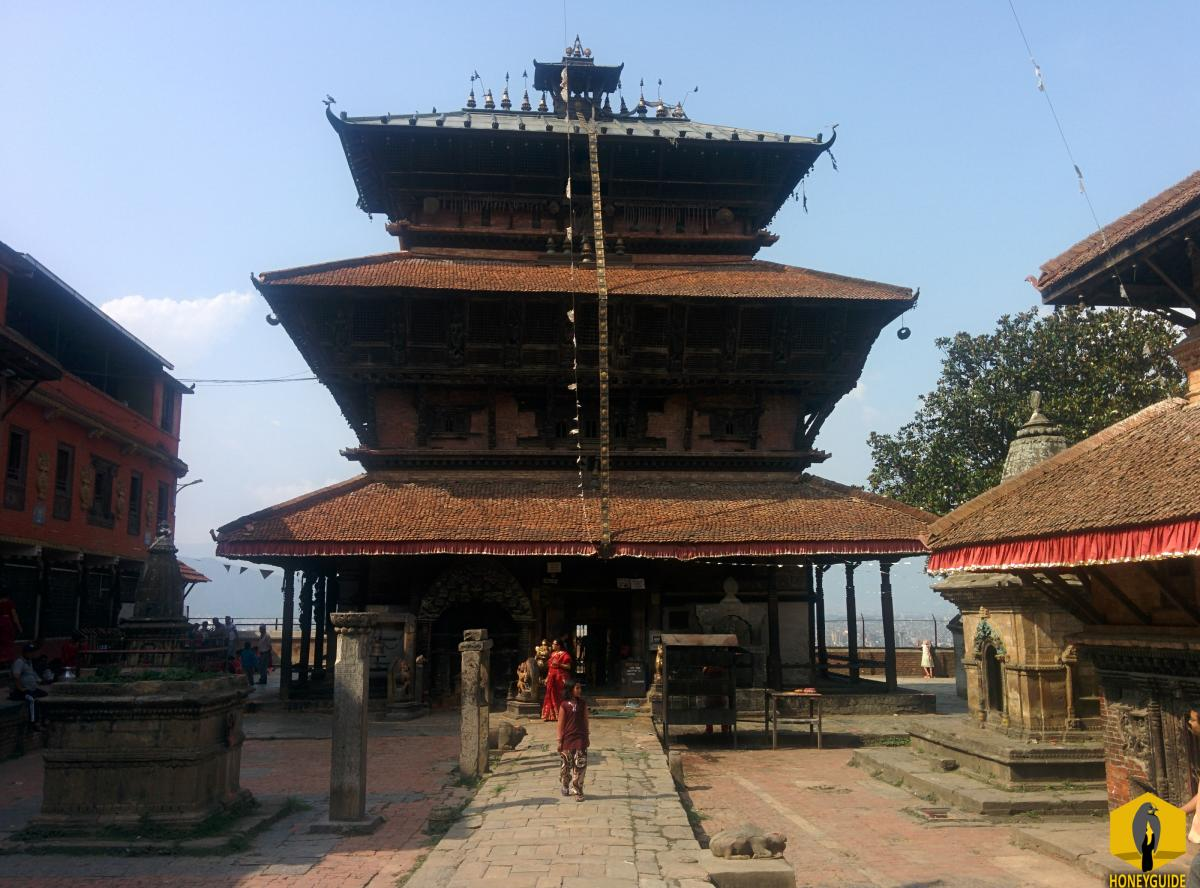 Bagh Bhairav Temple is dedicated to God Bhairav in the form of a tiger and is regarded as the guardian of Kirtipur.