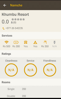 Everest Trek Guidebook App HoneyGuide Lodges information