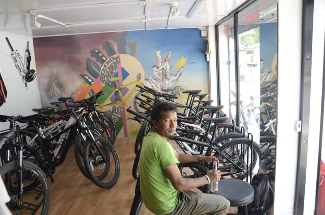 Mountain Bike shop in Nepal