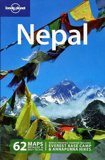 Lonely Planet - Mount Everest North And Southwest Faces With Prayer Flags