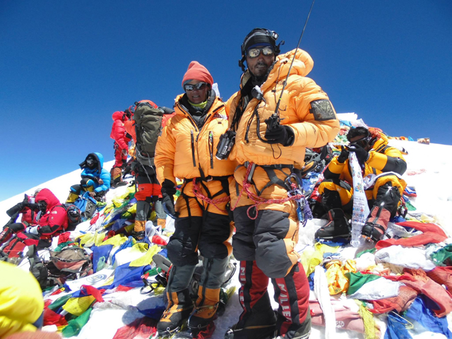Pasang on top of Everest