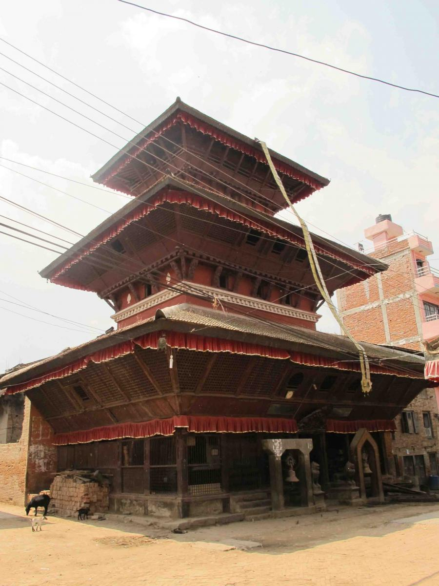 Rudrayani Temple, located in the center of the village and is 3 storey tall