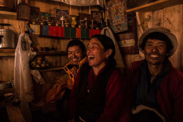 The people in Manaslu Circuit
