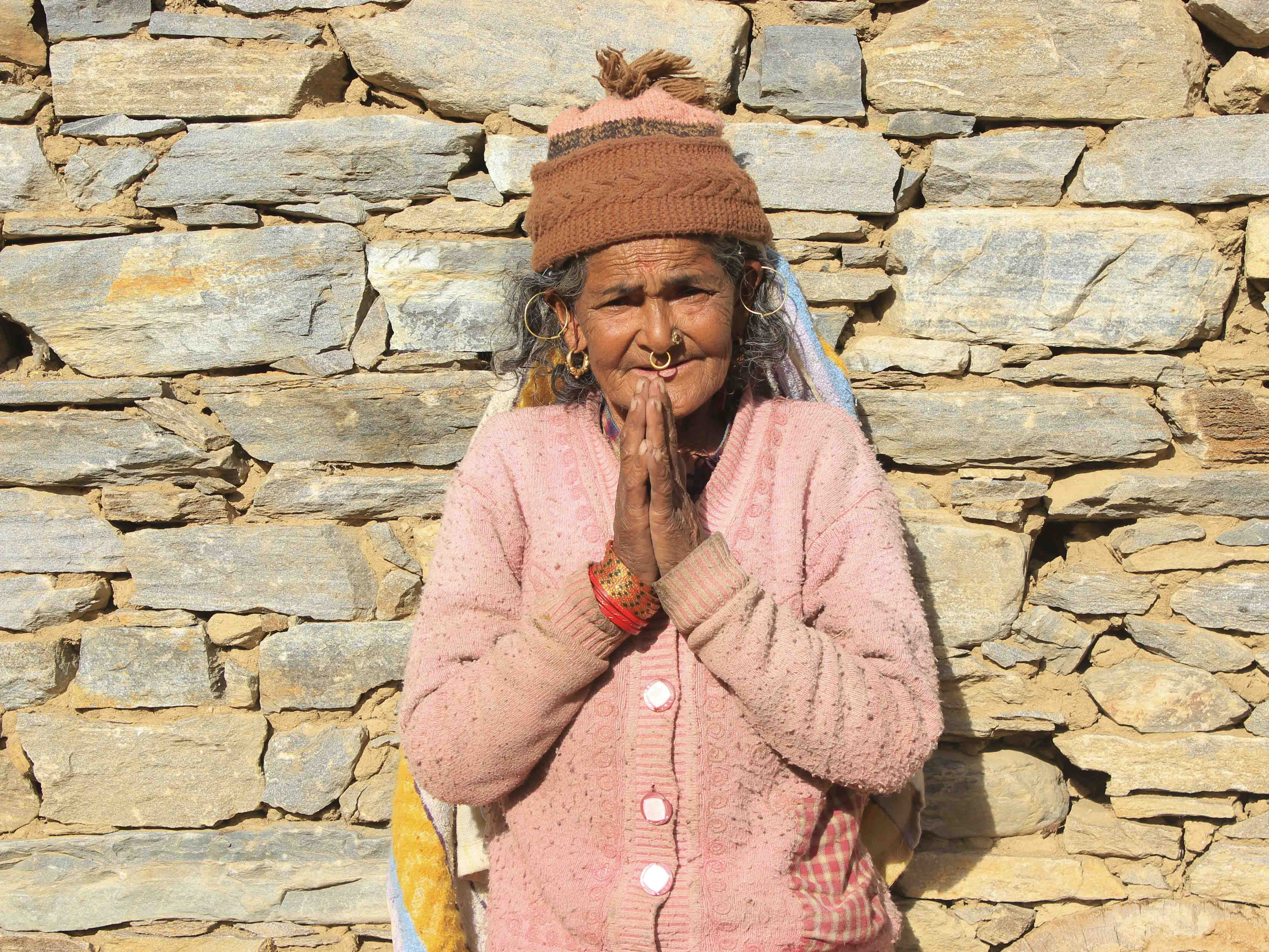 An old woman from Khaptad